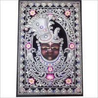 Silver Wood Ambose Antique Shreenath Ji Paint