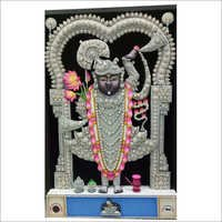 Silver Wood Ambose Shreenath Ji Painting