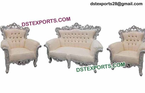 White Silver Wedding Furniture Set