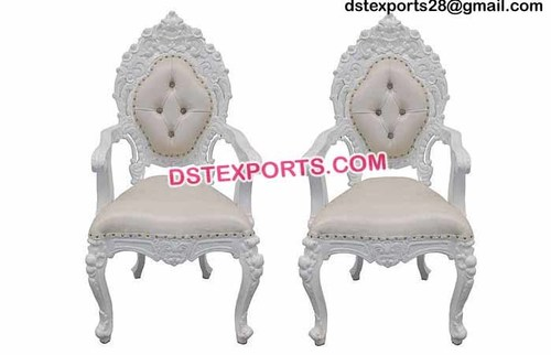 Beautiful White Wedding Chairs