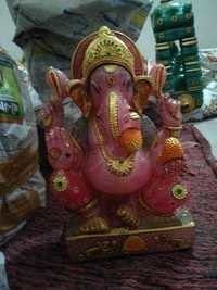 Rose quartz ganesh