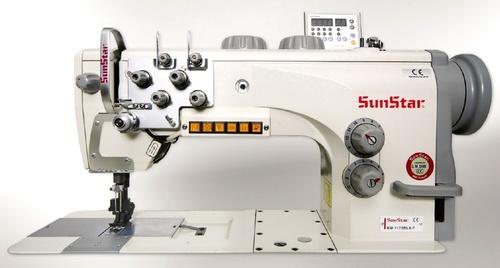 Semi-direct drive, flat bed, 1/2-needles, unison feed, lock stitch sewing machine