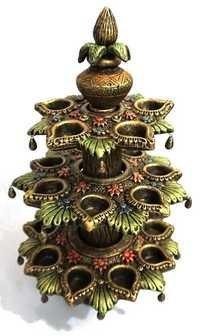 Kalash with 21 Diya set