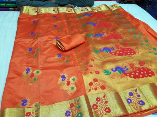 Paithani Flower Butta Art Silk Sarees