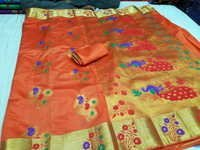 Paithani Flower Butta Art Silk Sarees