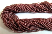 garnet Rondelle Faceted Beads,