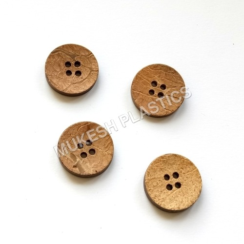 Natural Round Coconut Button