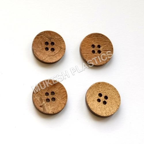 4 Holes Overcoat Round Coconut Button