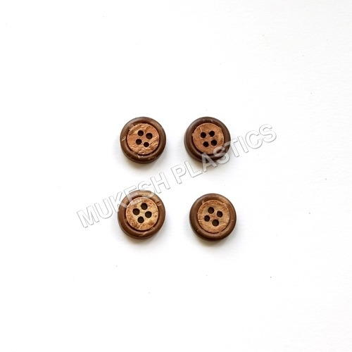 Brown Coconut Sewing Buttons