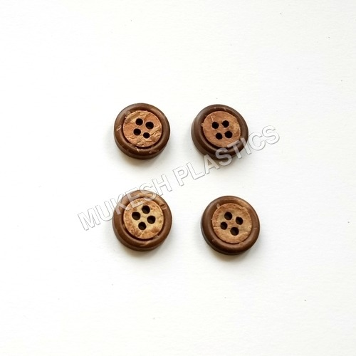 Decorative Coconut Round Button