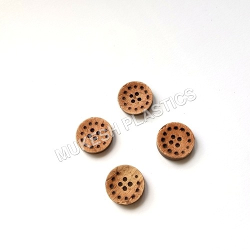 Laser Dotted Coconut Button
