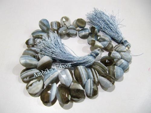 Bio Blue Opal Heart Shape Beads