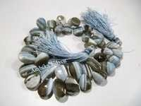 Bio Blue Opal Heart Shape Beads
