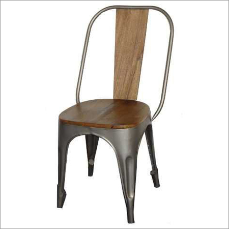 Industrial Chair with wooden top