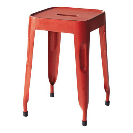 Galvanised Metal Stool