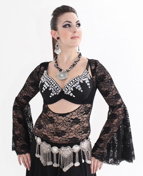 Belly Dance  Black Chain Belt Costumes