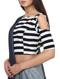 Stripe Design Blouse