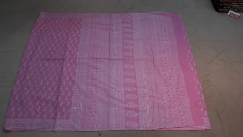 Dabu Block Printed Indigo Saree