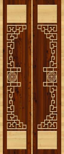 Brown Decorative Door Paper Print