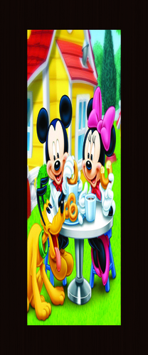 Tom and Jerry Printed Door Skin