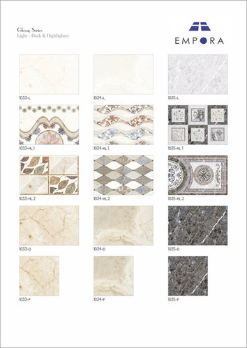 Decorative Wall Tiles Glossy Finish
