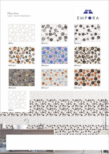 Bubbles Designer Elevation Wall Tiles 30x45