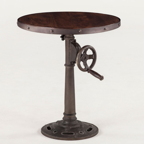 Industrial loft adjustable side table