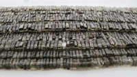 Smoky Quartz Square Heishi Cut Beads