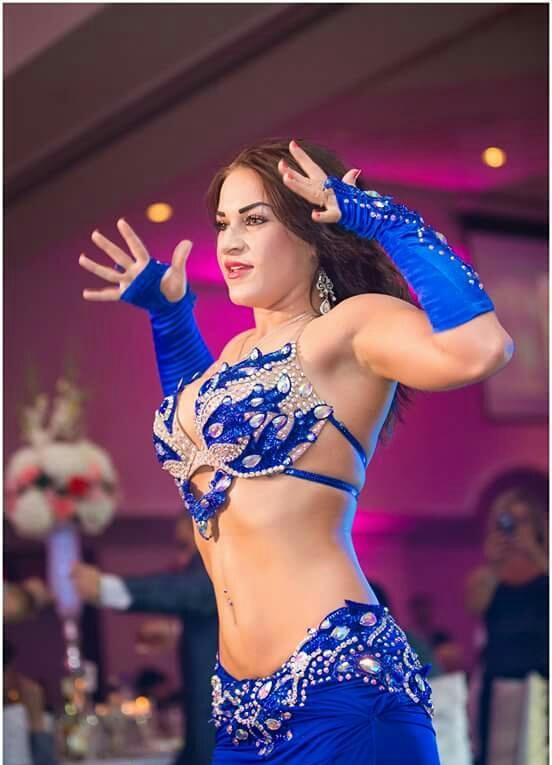 Belly Dance Blue Choli Belt Costume