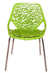 Green Molded Plastic Chair