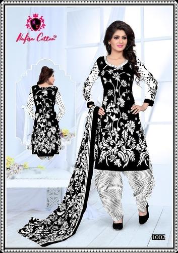 Vivel Kitkat Cotton Printed Dress Material