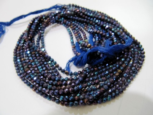 Blue Spinel Beads