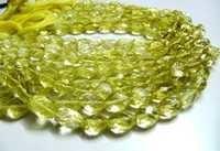 Lemon Quartz Oval faceted Beads
