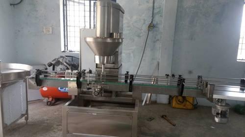Bottle powder filling machine