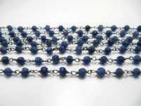Blue Sapphire Beaded Chain