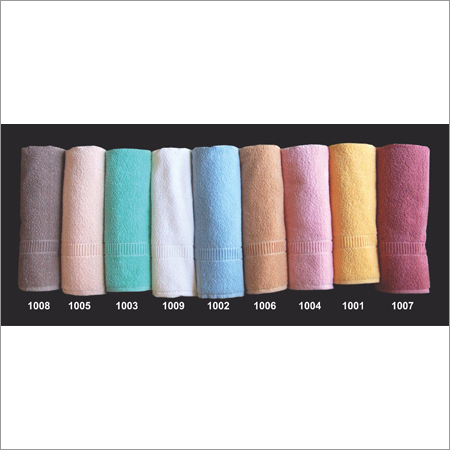 Combed cotton bath towels