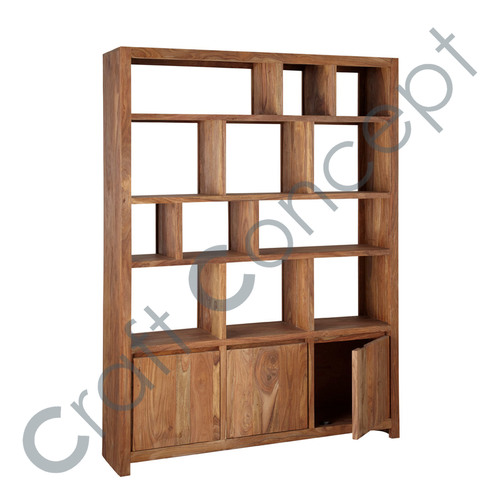 3 DOOR SOLID SHEESHAM SHELF