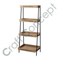 Black Iron & Wooden Shelf