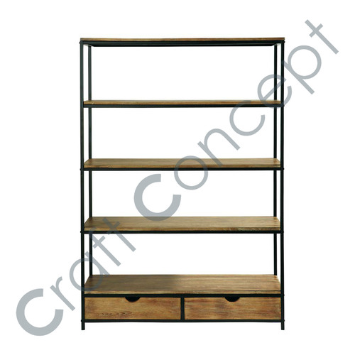 SOLID FIR & IRON HARD SHELF