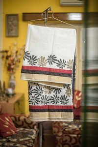 Cotton Hand Block Saree