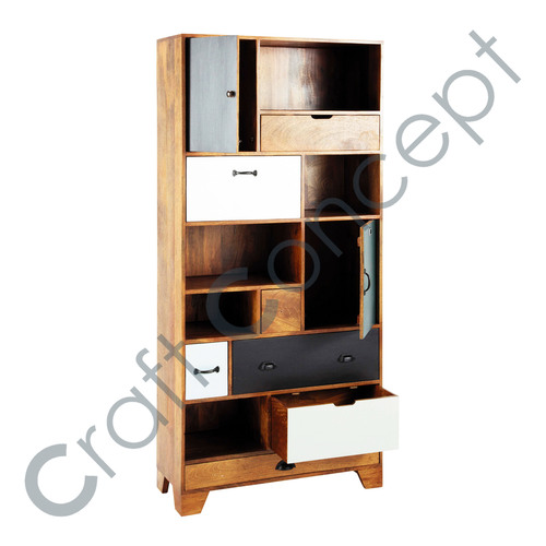 BLACK & WHITE COLOR WOODEN SHELVES