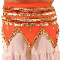 Belly Dance Hip Scarf Orange Colour