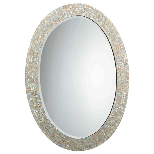 Oval Shape MOP Mirror
