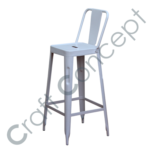 WHITE METAL BAR CHAIR