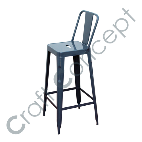 GRAY METAL BAR CHAIR