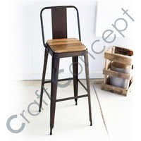 DARK BROWN METAL BAR CHAIR