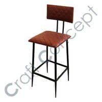 LEATHER & IRON BAR CHAIR