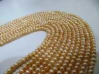 Pearl Beads Dark Golden Color