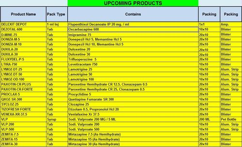 UPCOMING PRODUCT LIST - BLESS ME