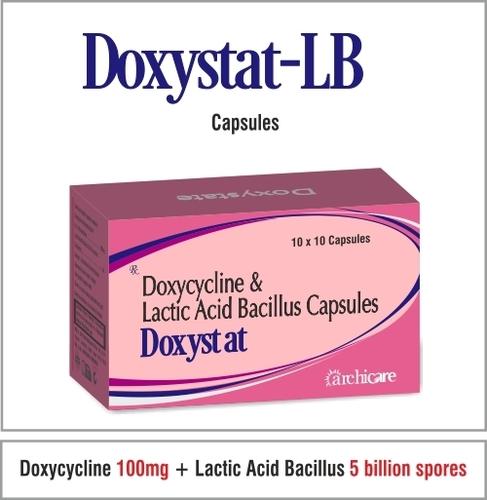 Doxycycline  100 mg.+Lactic Acid Bacillus 5 billion spores